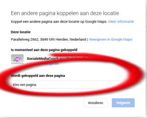 koppelen van google plus pagina's aan een locatie