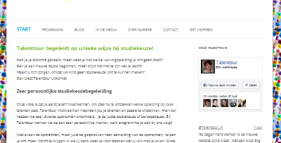 Redesign Talenttour.nl