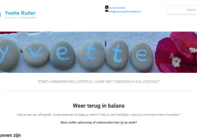 Redesign HomeopathueYHRuiter.nl